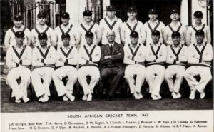 South African Cricket Team 1947