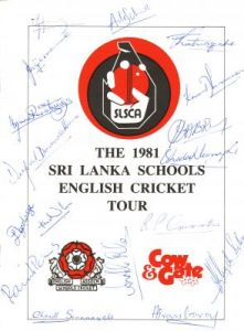 The 1981 Sri Lanka Schools English Cricket Tour